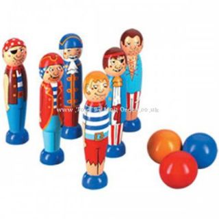 Lanka Kade Pirate Skittles Childrens Wooden Fair Trade Traditional Toys