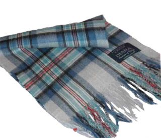 Luxury Cashmere Scarf in Princess Diana Memorial Tartan