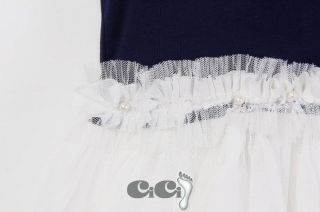 NTW Kids Girls Princess Birthday Party Tutu Dress Pearl Collar Summer 3 7T