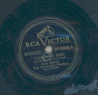 Details about Eddy Arnold Texarkana Baby 78 RPM Record Bouquet Roses