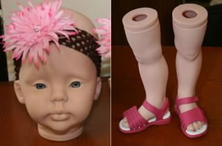 Taylor Reborn Doll Vinyl Kit by Donna RuBert Standing Sold Out Toddler Kit