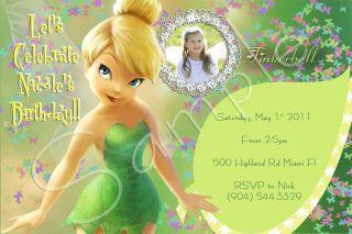 Tinkerbell Custom Birthday Party Invitations You Print