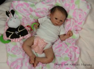 Silicone Baby Girl Lifelike Doll Art Premium Glass Eyes Mohair