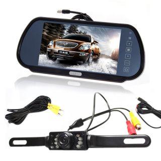 """7"""" LCD Screen Car Rear View Backup Parking Mirror Monitor Camera Night Vision"""