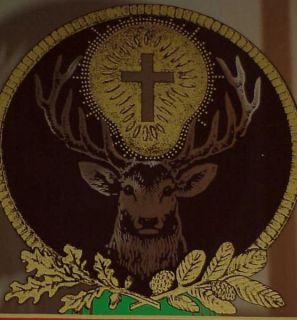 Jagermeister 12 Point Big Buck Deer w Cross Mirror EX