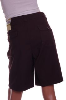 Dockers Womens Dark Brown Khaki Bermuda Casual Dress Shorts Chinos 14 16 New