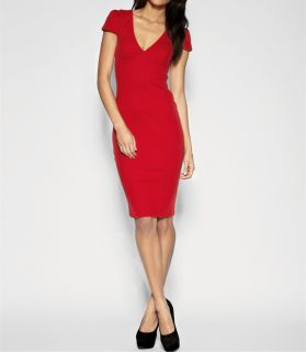 Sexy Women Deep V Neck Bodycon Slim Pencil Dress Business Party Cocktail Dress