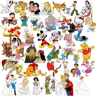 4000 Vector Clipart Famous Cartoon EPS Format Vinyl Cutter Plotter