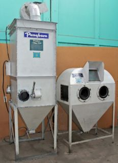Pangborn Suction Feed Blast Cleaning Cabinet with Pangborn CD 1 Dust Collector