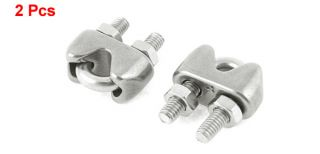 """2 Pcs 0 16"""" 4mm 304 Stainless Steel U Shape Bolt Wire Rope Clip Cable Clamp"""