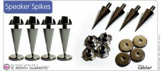 Speaker Spike with Floor Discs Stand Foot Cone Isolation Spikes Set of 8