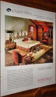 1966 Heritage Grand Tour Bedroom Furniture Photo Ad
