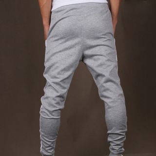 Mens Skinny Harem sweat Pants Training Jogging Dance Baggy Casual Pants Trousers