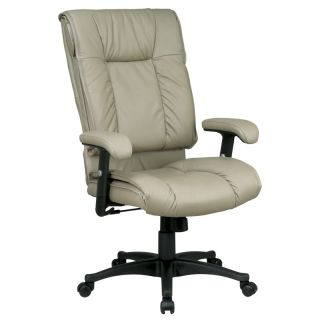 Tan Leather Deluxe Executive Office Computer Desk Chair