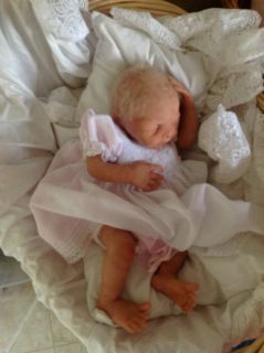 "Silicone Reborn""Sweet Pea"" Sculpted by Angela Harris Baby Doll"