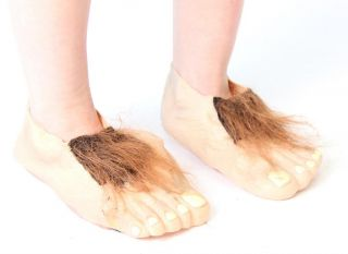 Child Movie LOTR Lord of The Rings The Hobbit Hairy Bare Feet Costume Accessory