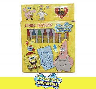 8 Colors of Spohgebob Squarepants Kid School Crayons Crayon Color Pens DL06