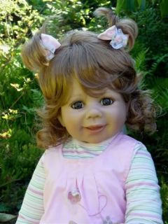"New Monday's Child Monika Levenig Masterpiece Doll 29"" Brunette Dressed"