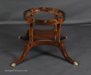 """60"""" to 84"""" Round Brown Mahogany Dining Table Antique Reproduction Table"""
