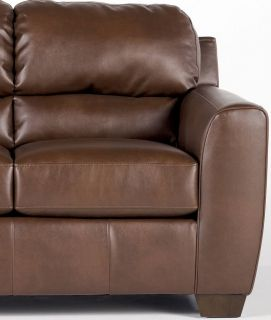 cognac brown leather 3 seater recliner sofa couch