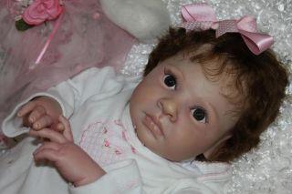"Reborn Baby Katie Lynn Rowan Sculpt by Jessica Schenk 26"" Big Curl Mohair"