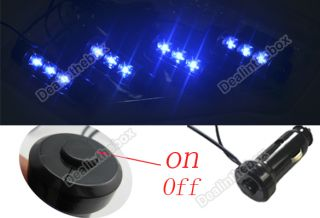4X 3LED Car Charge 12V Glow Interior Decorative Neon Atmosphere Lights Lamp Blue