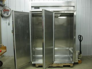 Delfield Two 2 Door Stainless Roll in Refrigerator Mini Walk in Cooler SLRRI66 S