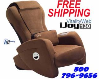iJoy 130 Robotic Human Touch Massage Chair Recliner Micro Suede Bone Off White