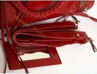 Women PU Leather Purse Handbag Shoulder Motorcycle Bag
