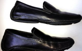 Cole Haan Nike Air Black Leather Driving Moccasins Loafers Mens Shoes Size 11
