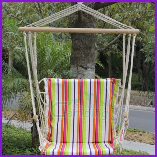 Outdoor Camping Hammock Canvas Air Sky Swing Chair Hanging Big Stripes Colorful
