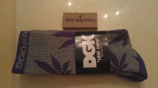 New DGK Marijuana Weed Leaf Socks Purple Pack Crew Hi 420 Plantlife HUF SF Kush