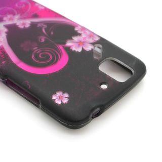 Purple Heart Case for Pantech Flex P8010 Cell Phone Hard Skin Cover