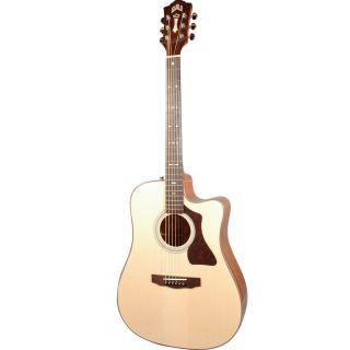 Guild Gad 40CE Natural Mahogany Cutaway 6 String Acoustic Guitar w Case 717669324506
