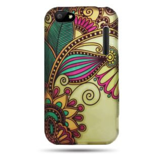 Alcatel One Touch 960C Authority 3035 Case Antique Flower Faceplate Hard Cover