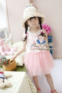 Kids Toddlers Fashion Dress Up Girls Cute Sleeveless Tulle Skirt Dress AGES2 7Y