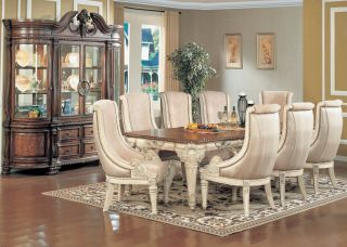 ... Halyn 9 Piece Formal Dining Room Set Antique White New ...