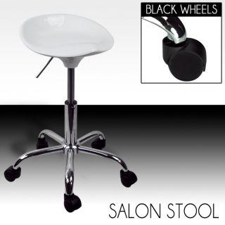 White Beauty Salon Hydraulic Stool Chair Spa Tattoo Bar Doctor Dental Clinic New