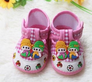 Infant Princess Prince Baby Shoe Cartoon Boy Girl Pink Soft Bottom Shoes 6 10M