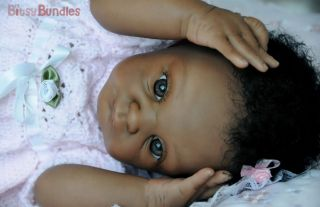 Bitsy Bundles Reborn Ethnic African American Baby Girl Doll Suze by Adrie Stote