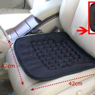 Car Heated Seat Cushion Hot Cover Auto 12V Heat Heater Warmer Pad Winter Black