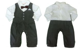 Baby Boy Suit Clothes Christmas Gift Formal Tuxedo Christening Weddig Party S