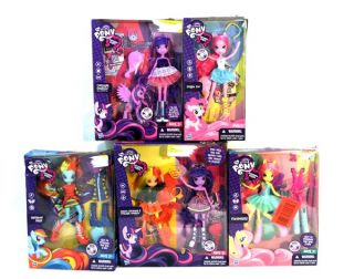 Lot My Little Pony Equestrian Girls Action Figures Rainbow Dash Fluttershy Etc