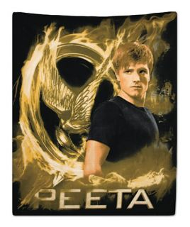 "50"" x 60"" Peeta Hunger Games Fleece Blanket Throw Mockingjay Katniss Gift Movie"