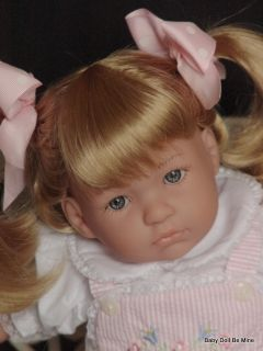 """New Berenguer Annabella 20"""" Doll Blonde Hair Blue Eyes with Makeover"""