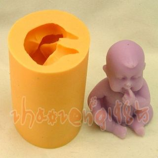 Lovely Baby Boy Cavity Fondant Silicone Silicon Mold Mould for Handmade Soap 582