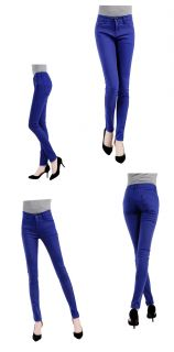 Ladies Womens Candy Color Skinny Slim Fit Stretch Leggings Trousers Jeans