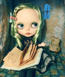 1 6 OOAK Posable Art Doll Custom Blythe Bepa Diorama by Mm