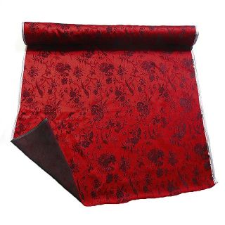 0 5 Yard Chinese Brocade Fabric Deep Red Basic Black Birds for Cushion Covers