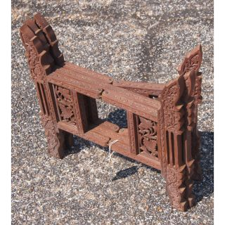 """23"""" Antique Indian Bronze Campaign Folding Tray Table"""